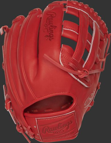 PROKB17-6S 12.25-Inch Heart of the Hide Pro Label glove with a scarlet back and leather patch