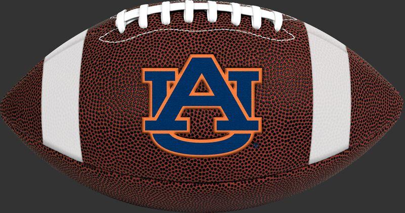 Brown NCAA Auburn Tigers Football With Team Logo SKU #04623003811