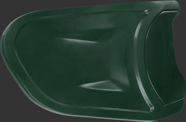 A dark green REXT R-EXT universal batting helmet extension piece