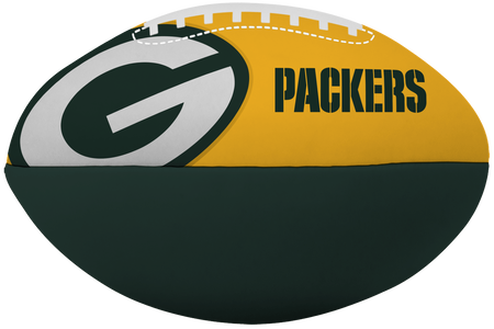 NFL Green Bay Packers Big Boy softee football printed in team colors and with team colors