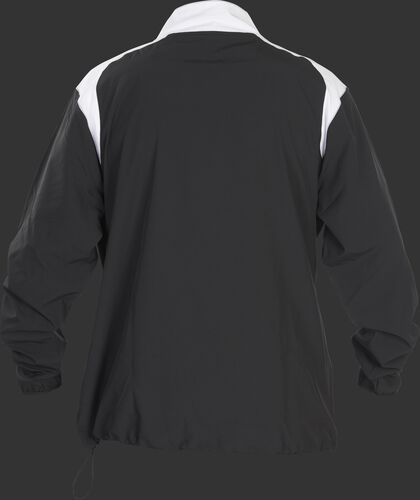 Back of Rawlings Black Adult Long Sleeve Quarter-Zip Jacket - SKU #FORCEJ-B-88