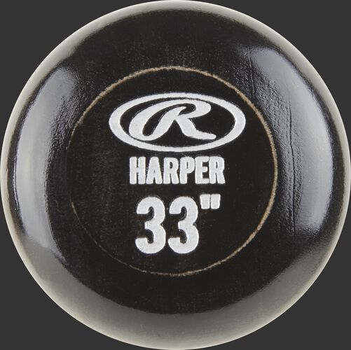 Knob of a BH34PL maple Bryce Harper bat