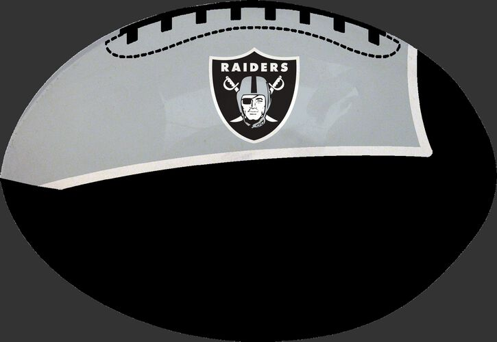 Black and Silver NFL Oakland Raiders Football With Team Logo SKU #07831072111
