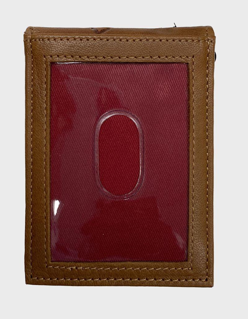 Debossed Stitch Front Pocket Wallet