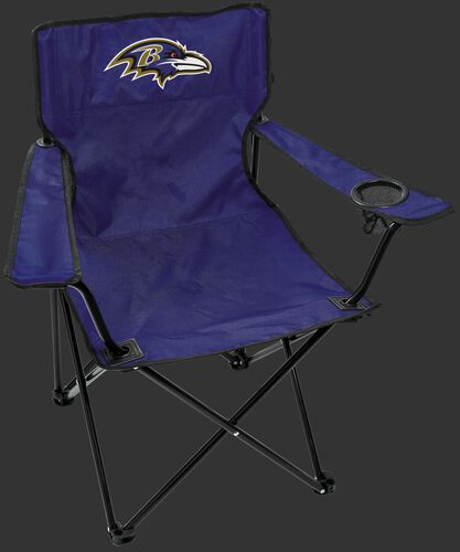 Front of Rawlings Purple NFL Baltimore Ravens Gameday Elite Chair With Team Logo SKU #00551092111