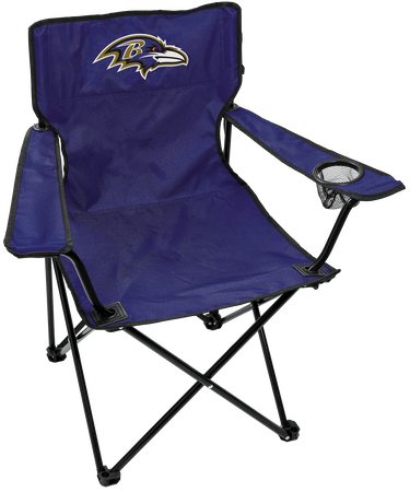 NFL Baltimore Ravens Gameday Elite Chair with team colors and logo on the back