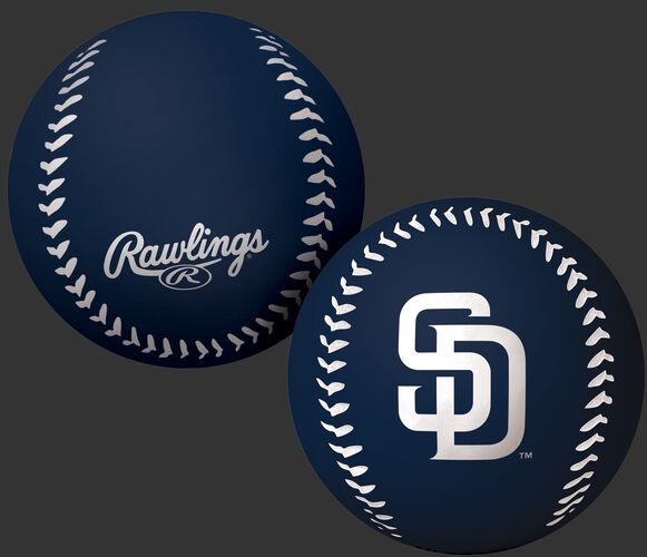 Rawlings San Diego Padres Big Fly Rubber Bounce Ball With Team Logo on Front In Team Colors SKU #02870019112