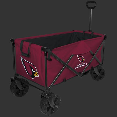 NFL Arizona Cardinals wagon in team colors with logos, sturdy wheels and a pull handle SKU #00931081519
