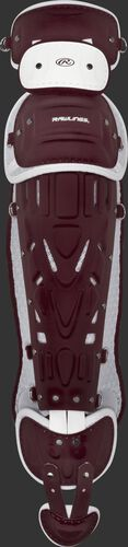 Maroon/white Pro Preferred adult leg guards