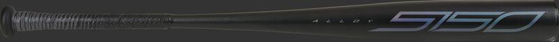 A black 2021 5150 BBCOR -3 bat with blue accents - SKU: BB153