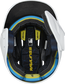 Inside of a MACHEXTR Rawlings MACH baseball helmet with IMPAX durable foam padding image number null