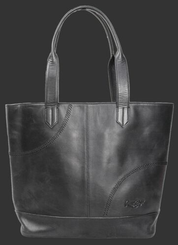 Rawlings Women's Collection Baseball Stitch Large Black Tote Bag SKU #RB60001-001