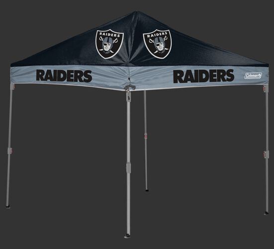 Rawlings Black and Silver NFL Oakland Raiders 10x10 Canopy Shelter With Team Logo and Name SKU #03221072111