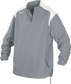 Front of Rawlings Gray Adult Long Sleeve Quarter-Zip Jacket - SKU #FORCEJ-B-88 image number null
