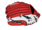 Back of a red/white Philadelphia Phillies 10-inch youth glove with the MLB logo on the pinky - SKU: 22000020111 image number null