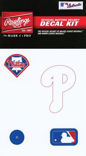 Rawlings MLB Philadelphia Phillies Decal Kit With Team Logos and MLB Logo SKU #MLBDC-PHI