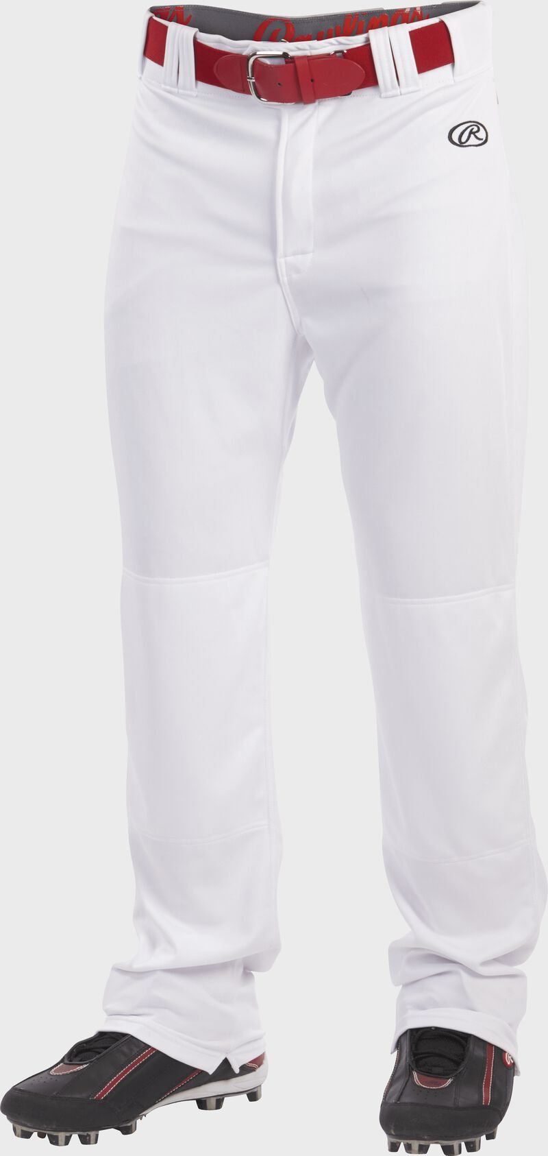 Front of Rawlings White Adult Launch Semi-Relaxed Pant - SKU #LNCHSR