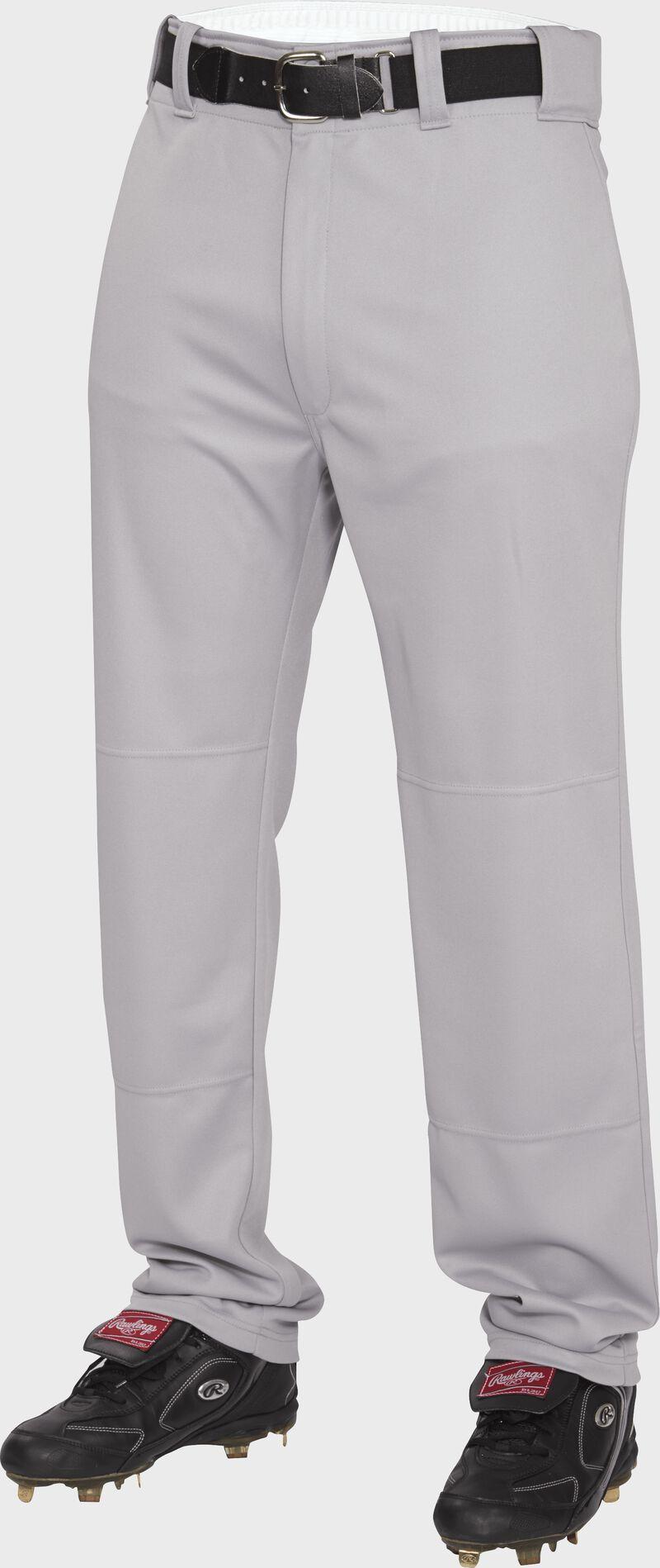 Front of Rawlings Blue Gray Adult Semi-Relaxed Pant - SKU #BP31SR
