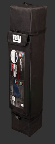 Black carry case of a 9x9 New York Giants canopy with a team logo on the side compartment - SKU: 03231078112