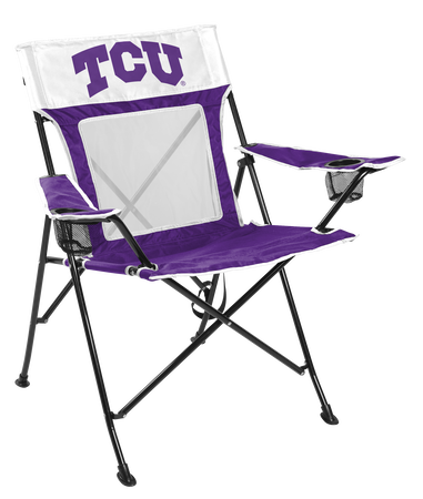 NCAA TCU Horned Frogs Game Changer chair with the team logo