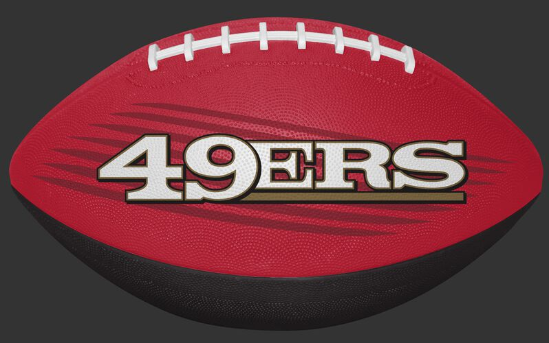 Scarlet and Black NFL San Francisco 49ers Downfield Youth Football With Team Name SKU #07731084121