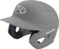 Left angle view of a Rawlings MACH helmet with a one-tone matte silver shell image number null