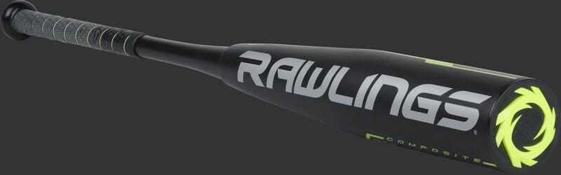 UT9Q12 Rawlings Quatro Pro -12 bat with a black barrel and grey/black grip
