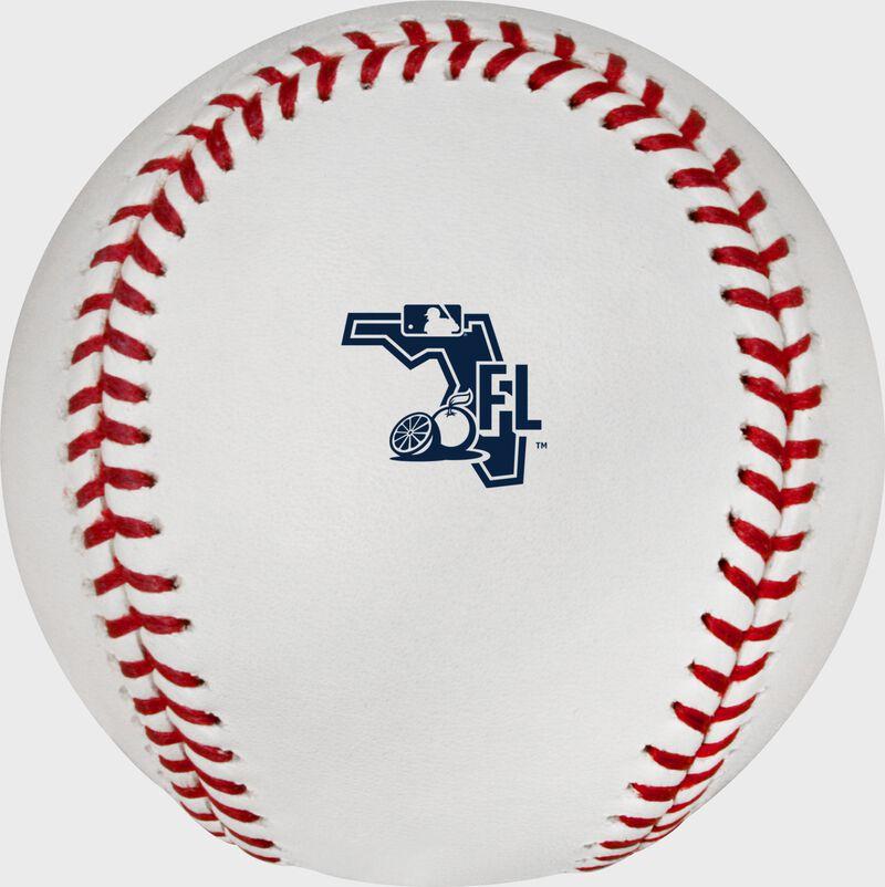 The 2020 Florida Spring Training logo on an Official MLB baseball - SKU: ROMLBSTFL20