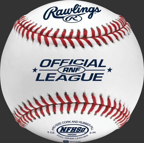 RNF NFHS official high school baseball with NFHS logo