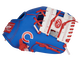 Thumb of a blue/white Chicago Cubs 10-Inch team logo glove with a white I-web and Cubs logo on the thumb - SKU: 22000008111 image number null