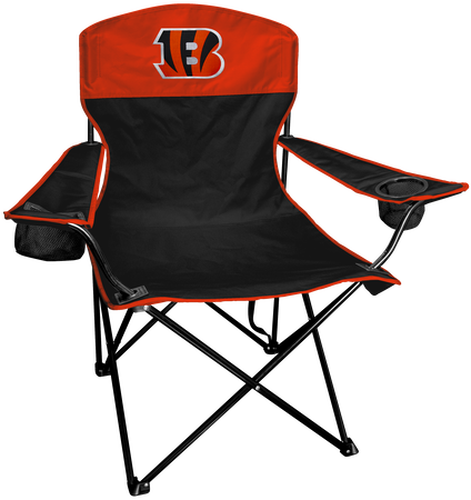 NFL Cincinnati Bengals Lineman chair with team colors and logo on the back