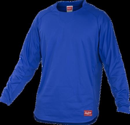 Front of Rawlings Royal Youth Long Sleeve Shirt - SKU #YUDFP3-B-88