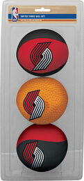 NBA Portland Trail Blazers Three-Point Softee Basketball Set