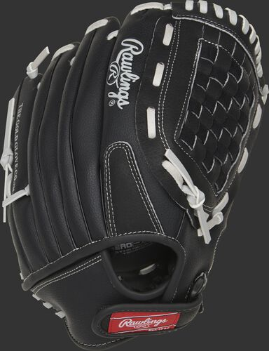 RSB125GB 12.5-Inch RSB basket web glove with a black back and Velcro wrist strap