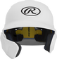 Front of a matte white MACHEXTL junior size Mach batting helmet with face guard extension for left hand batters image number null