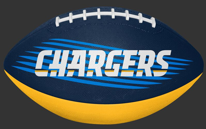 Blue and Gold NFL Los Angeles Chargers Downfield Youth Football With Team Name SKU #07731083121