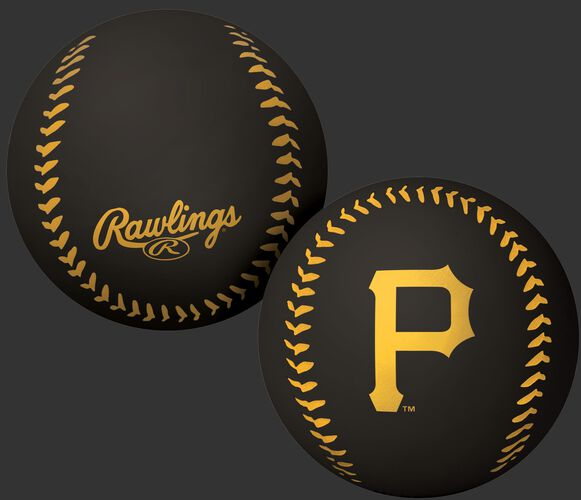 Rawlings Pittsburgh Pirates Big Fly Rubber Bounce Ball With Team Logo on Front In Team Colors SKU #02870021112