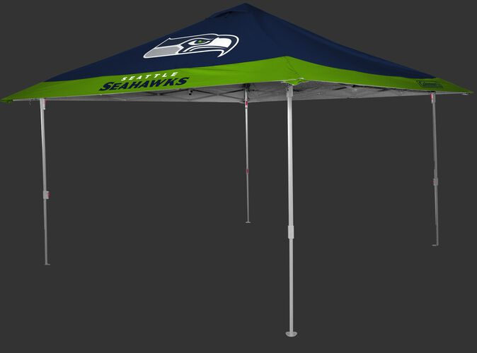 Rawlings Bright Green and Navy NFL Seattle Seahawks 10x10 Eaved Canopy With Team Logo and Name SKU #07561085111