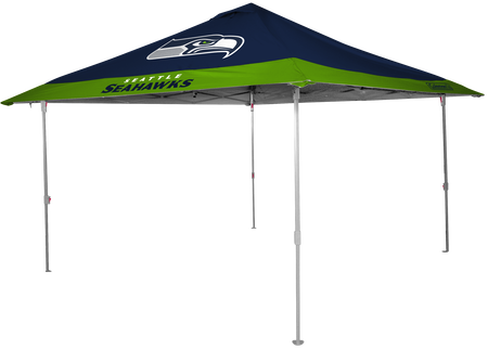 NFL Seattle Seahawks 10x10 eaved canopy in team colors