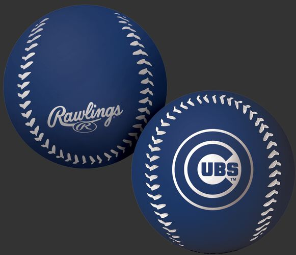Rawlings Chicago Cubs Big Fly Rubber Bounce Ball With Team Logo on Front In Team Colors SKU #02870008112