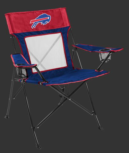 Front of Rawlings Blue and Red NFL Buffalo Bills Game Changers Chair With Team Logo SKU #00651061111