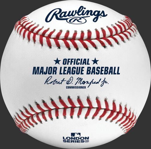 An official 2020 MLB London Series baseball with the MLB commissioner's signature - EA-ROMLBLS20-R