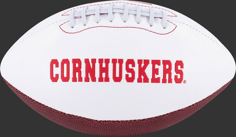 White NCAA Nebraska Cornhuskers Football With Team Name SKU #05733089122