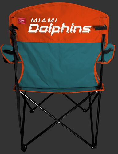 Back of Rawlings NFL Miami Dolphins Lineman Chair With Team Name SKU #31021074111