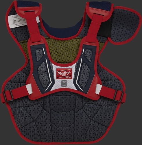 Back of a USA theme Velo 2.0 chest protector - SKU: CPV2N-NSW