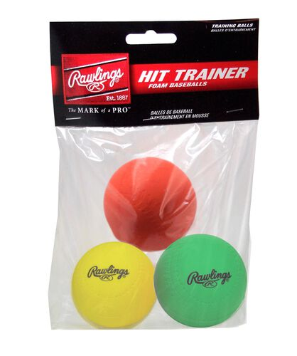 Rawlings Red, Green, and Yellow 3-pack of Hit Training Balls SKU #HITTRAIN