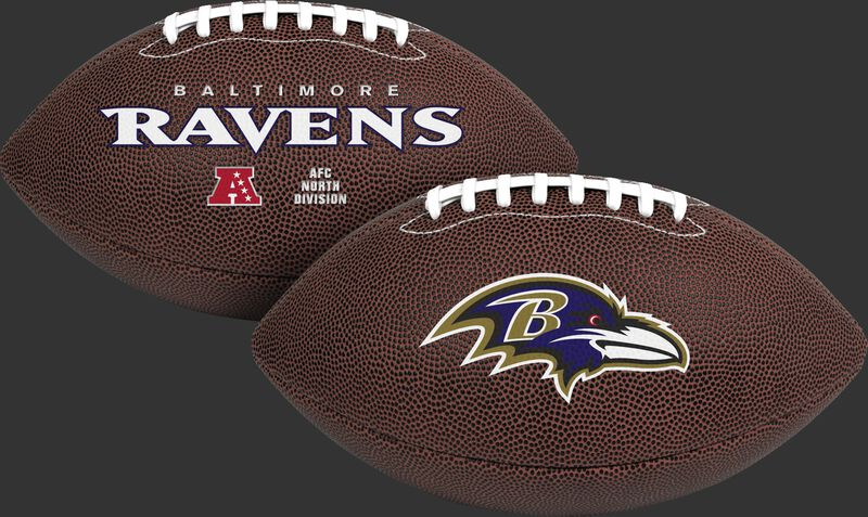 NFL Baltimore Ravens Air-It-Out youth football with team logo and team name SKU #08041092121