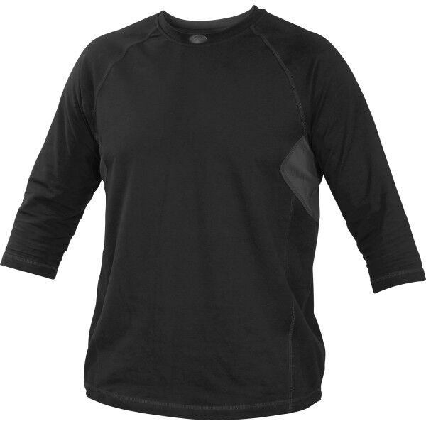 Adult 3/4 Length Sleeve Shirt Black