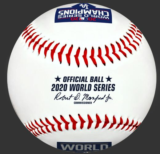 A 2020 Los Angeles Dodgers World Series champions replica baseball with the official MLB baseball stamp - SKU: 35010032282