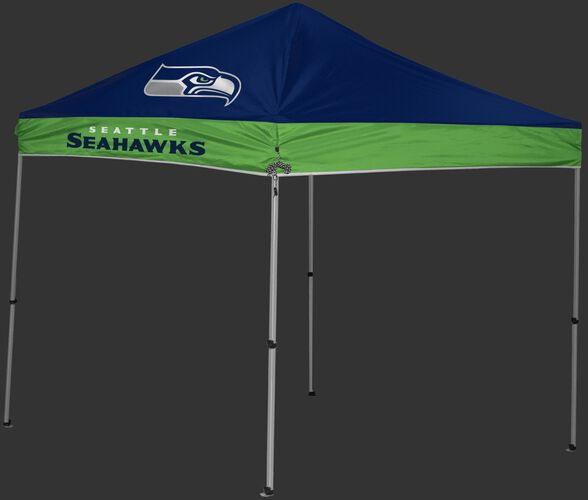 Rawlings Bright Green and Navy NFL Seattle Seahawks 9x9 Canopy Shelter With Team Logo and Name SKU #03231085111